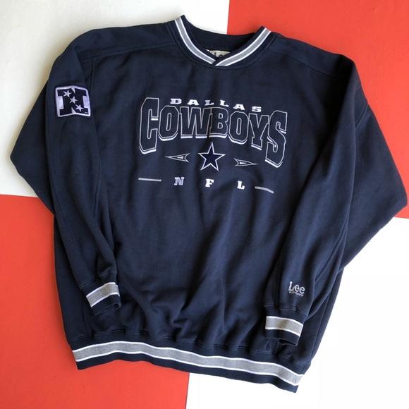 81b462b36 Lee Shirts | Vintage Dallas Cowboys Embroidered Sweatshirt | Poshmark